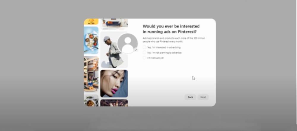 tutoriel comment creer son compte Pinterest Business